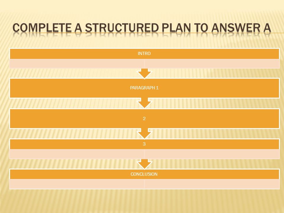 Complete a structured plan to answer a