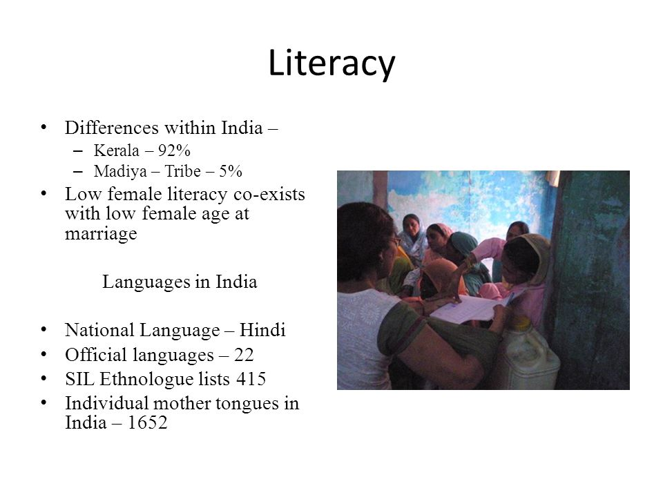 Literacy Differences within India –