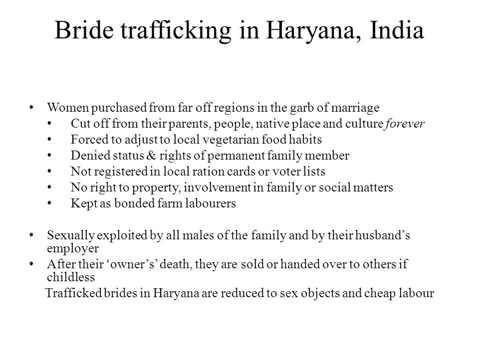 Bride trafficking in Haryana, India