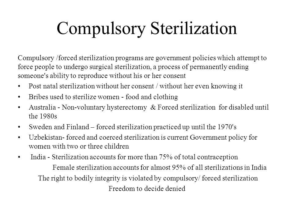 Compulsory Sterilization