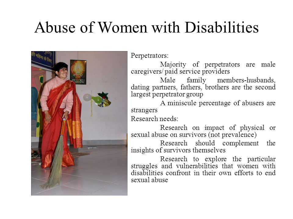 Abuse of Women with Disabilities