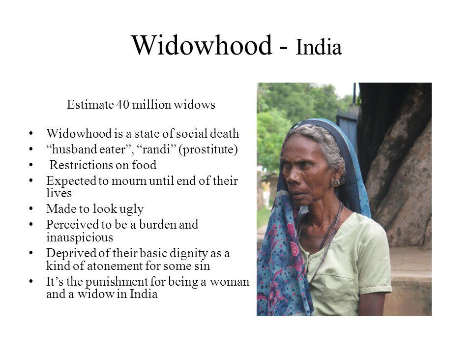 Estimate 40 million widows