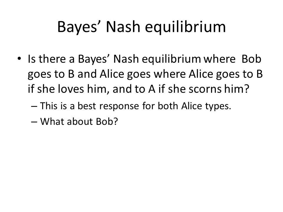 Bayes' Nash equilibrium