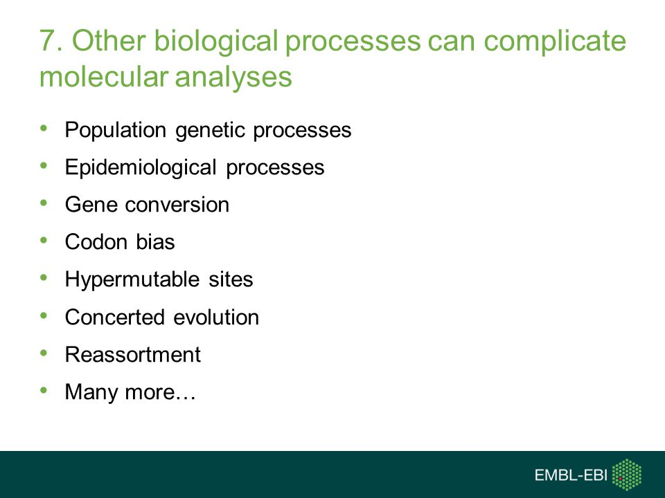 7. Other biological processes can complicate molecular analyses