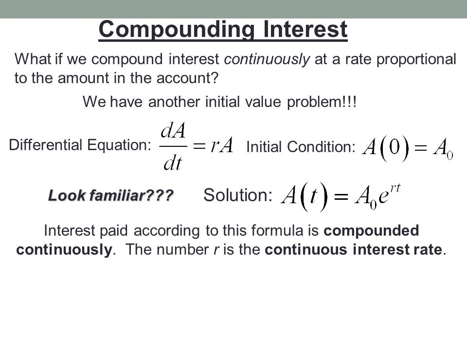 Compounding Interest Solution: