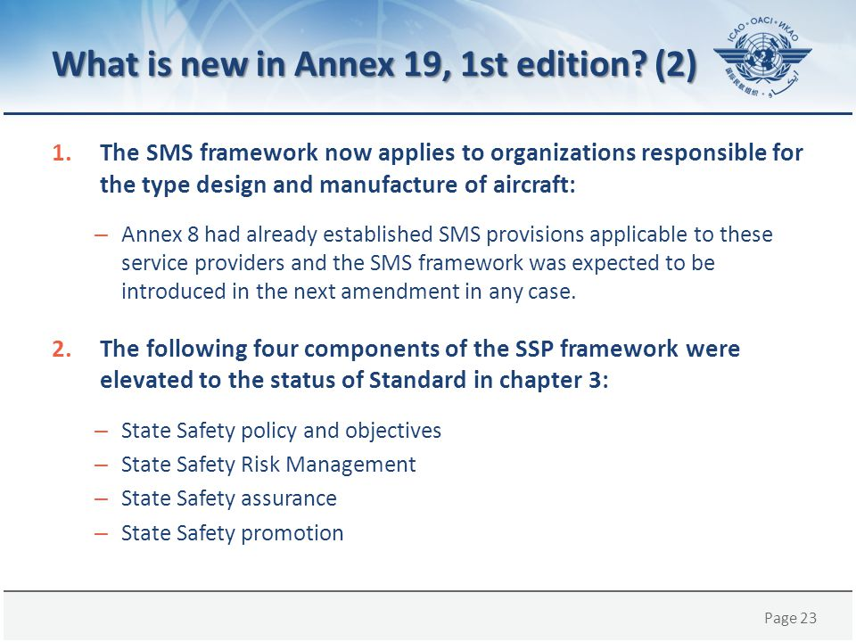 What is new in Annex 19, 1st edition (2)