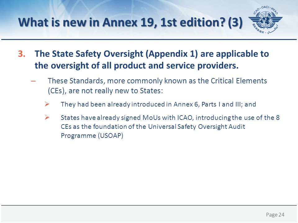 What is new in Annex 19, 1st edition (3)