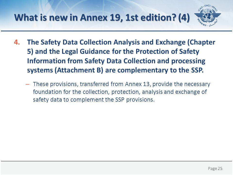 What is new in Annex 19, 1st edition (4)