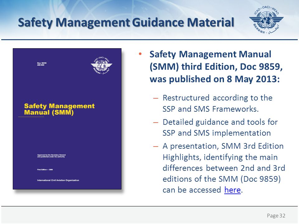Safety Management Guidance Material