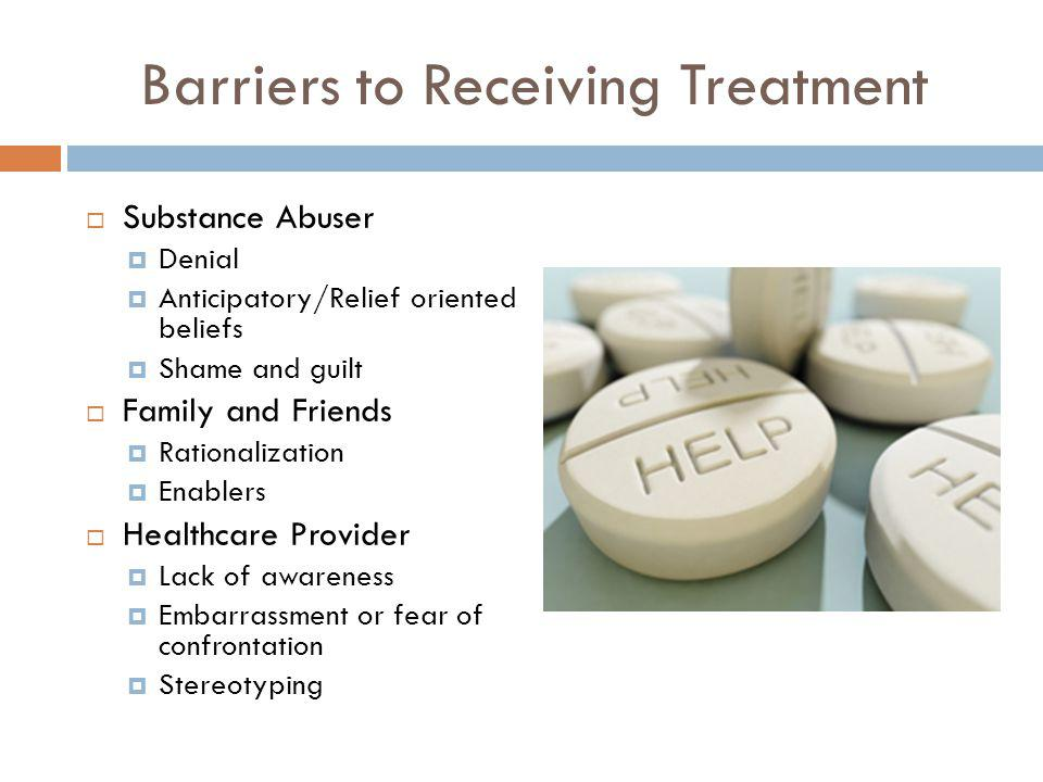 Barriers to Receiving Treatment
