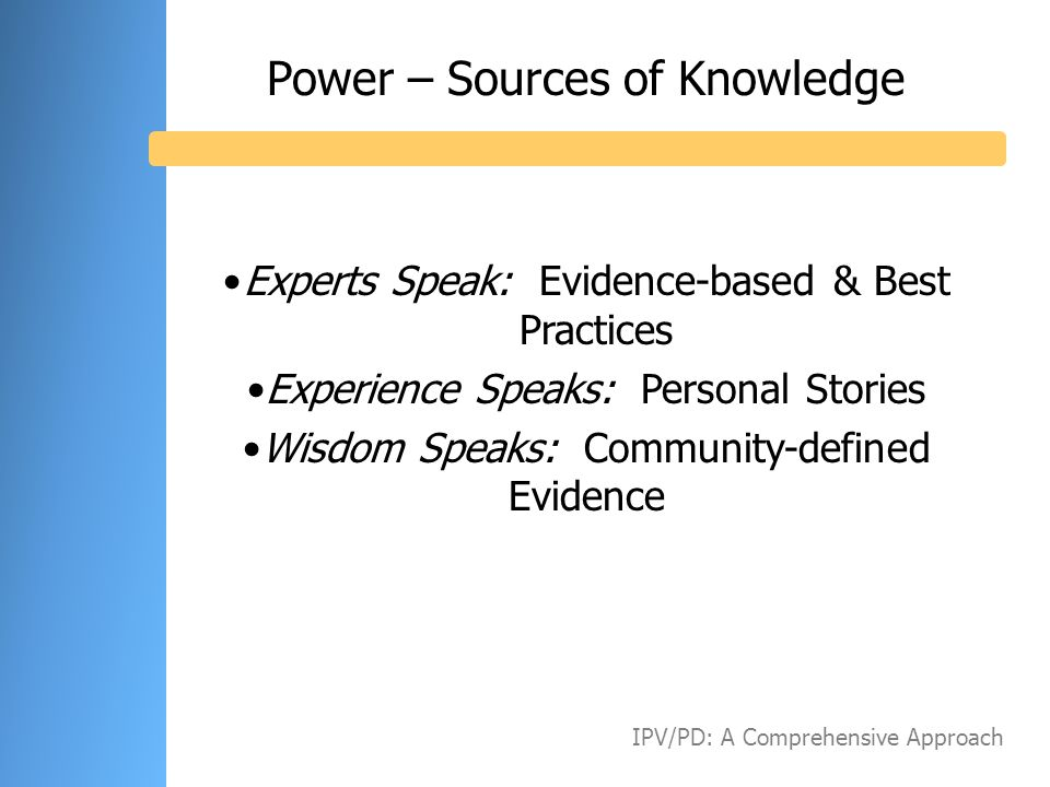 Power – Sources of Knowledge
