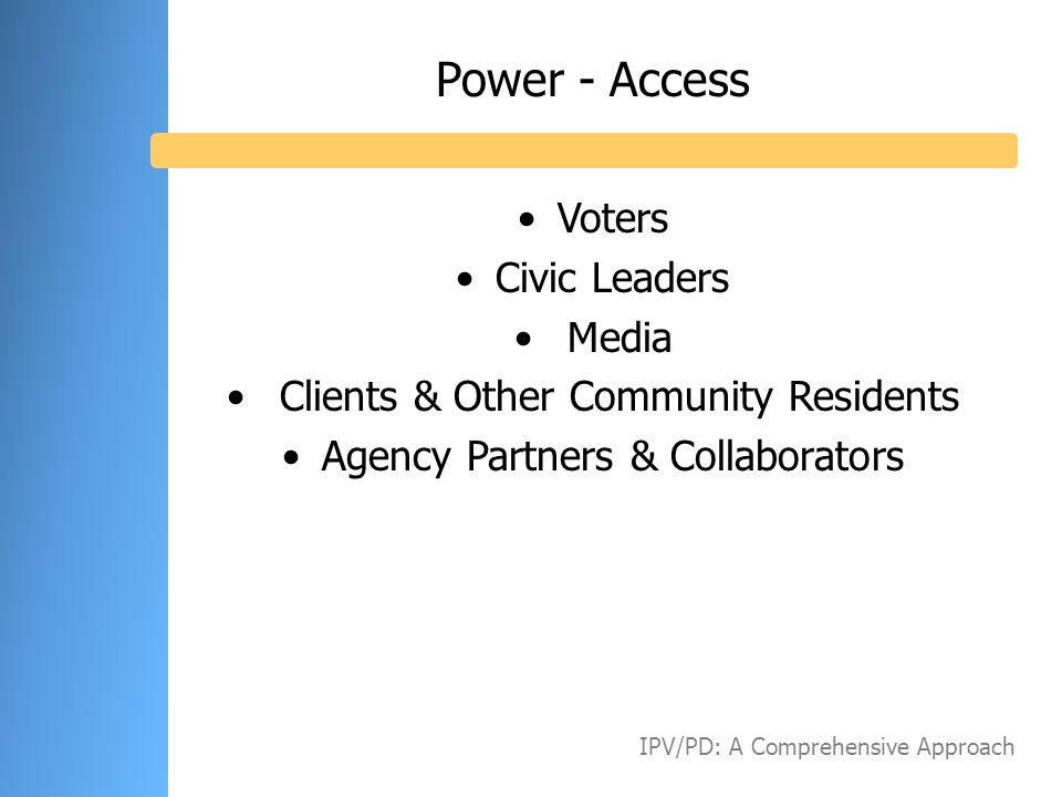 Power - Access Voters Civic Leaders Media