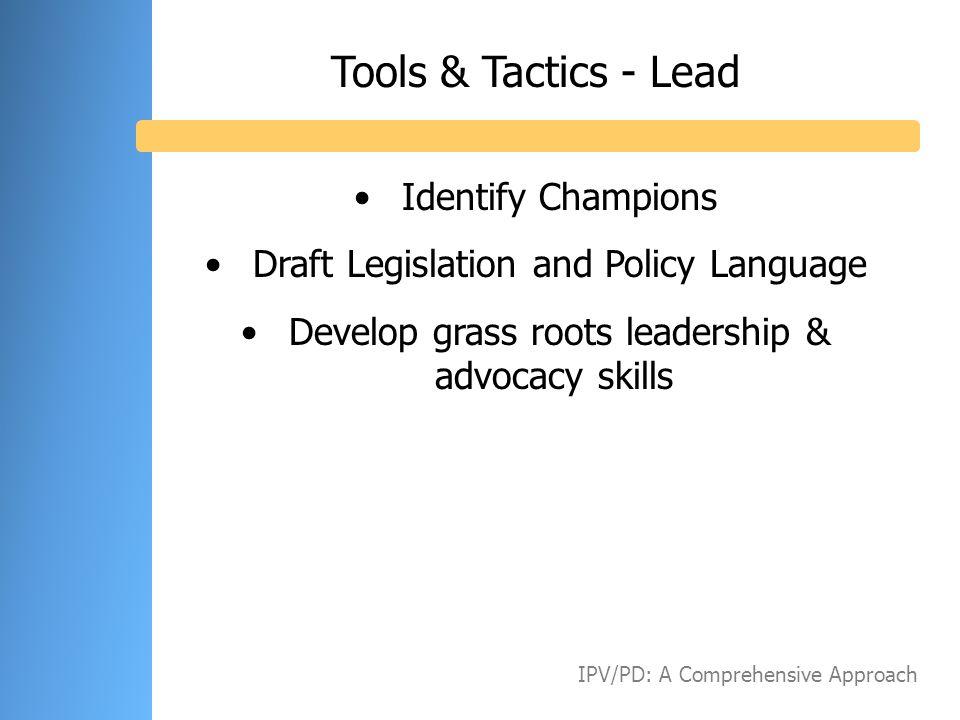 Tools & Tactics - Lead Identify Champions