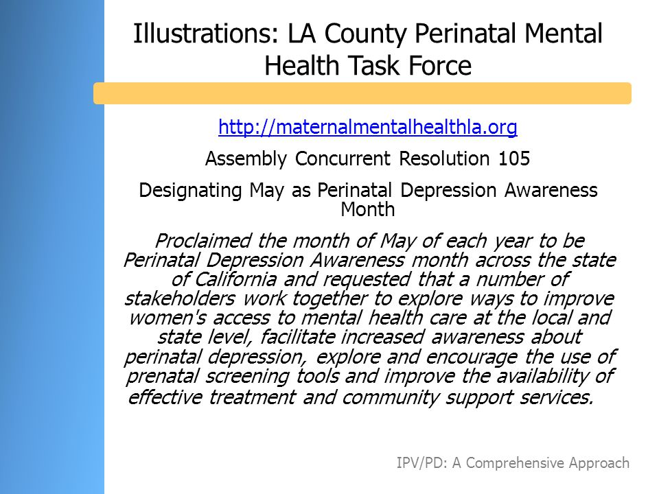 Illustrations: LA County Perinatal Mental Health Task Force
