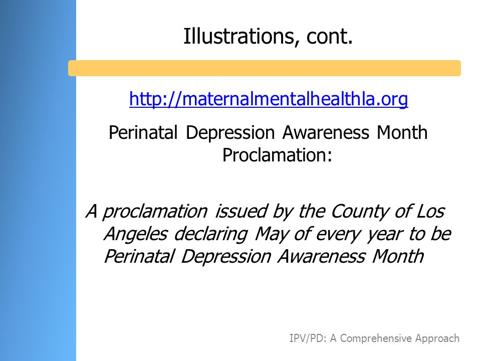 Perinatal Depression Awareness Month Proclamation: