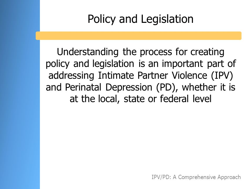 Policy and Legislation