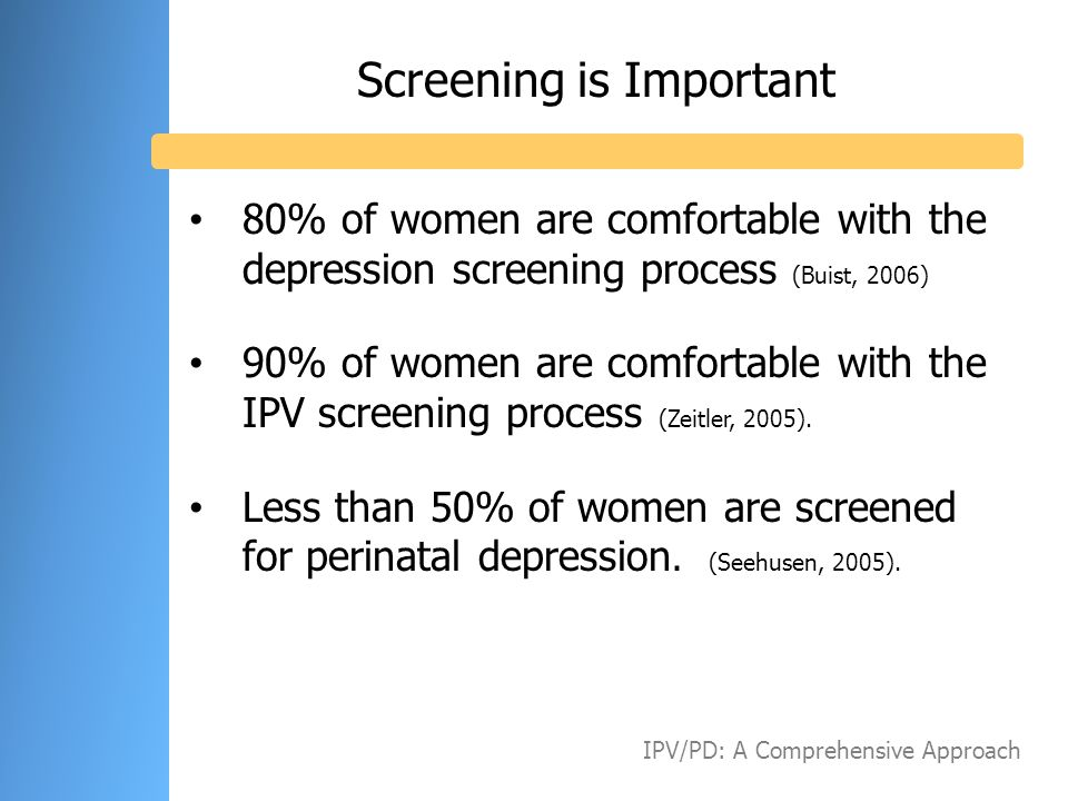 Screening is Important
