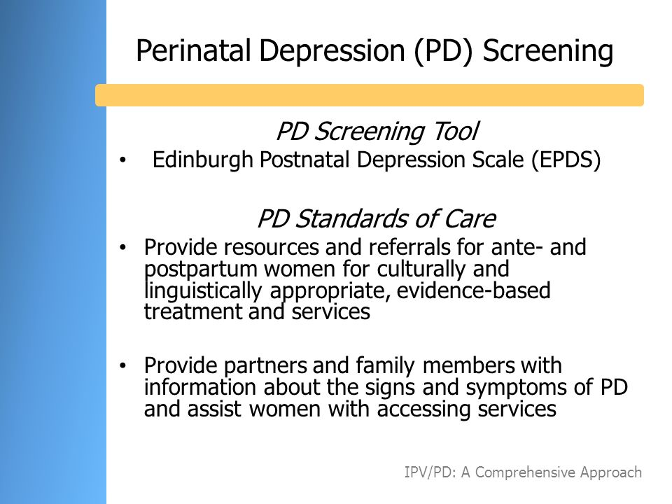 Perinatal Depression (PD) Screening