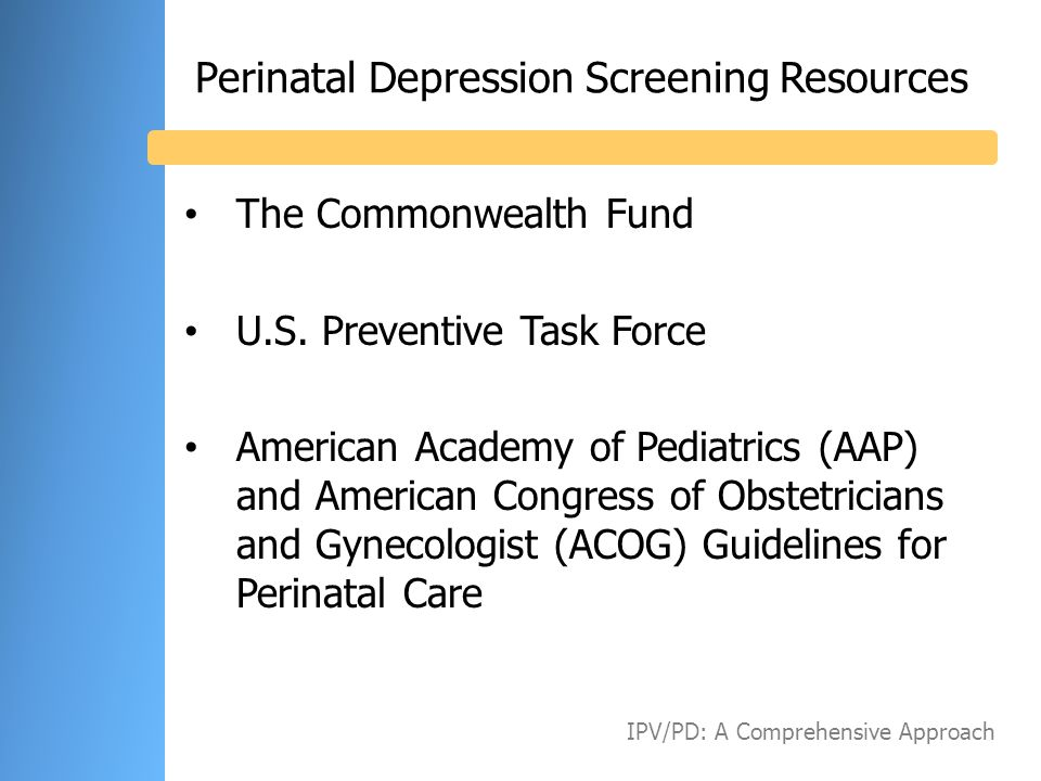 Perinatal Depression Screening Resources