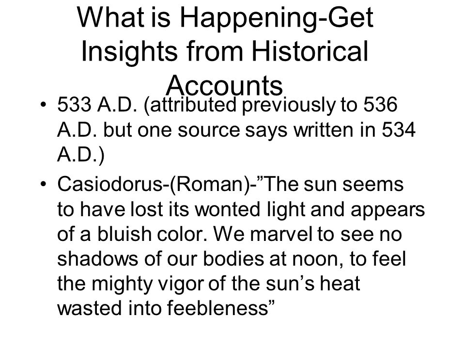 What is Happening-Get Insights from Historical Accounts