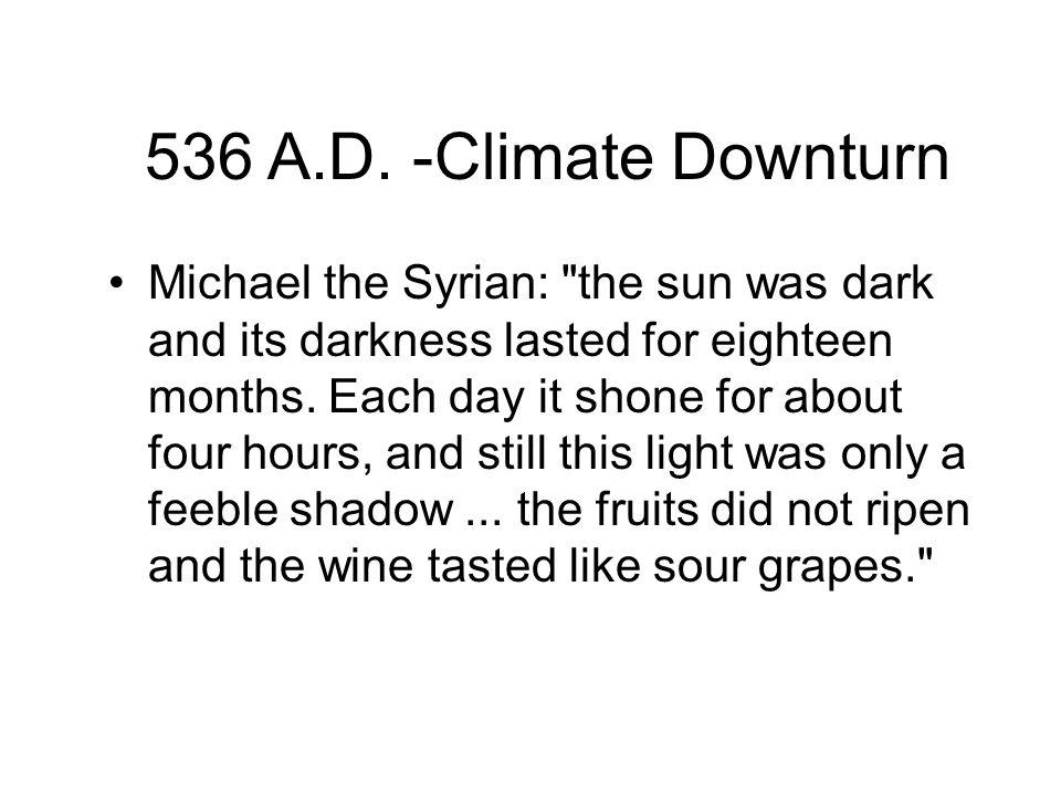 536 A.D. -Climate Downturn