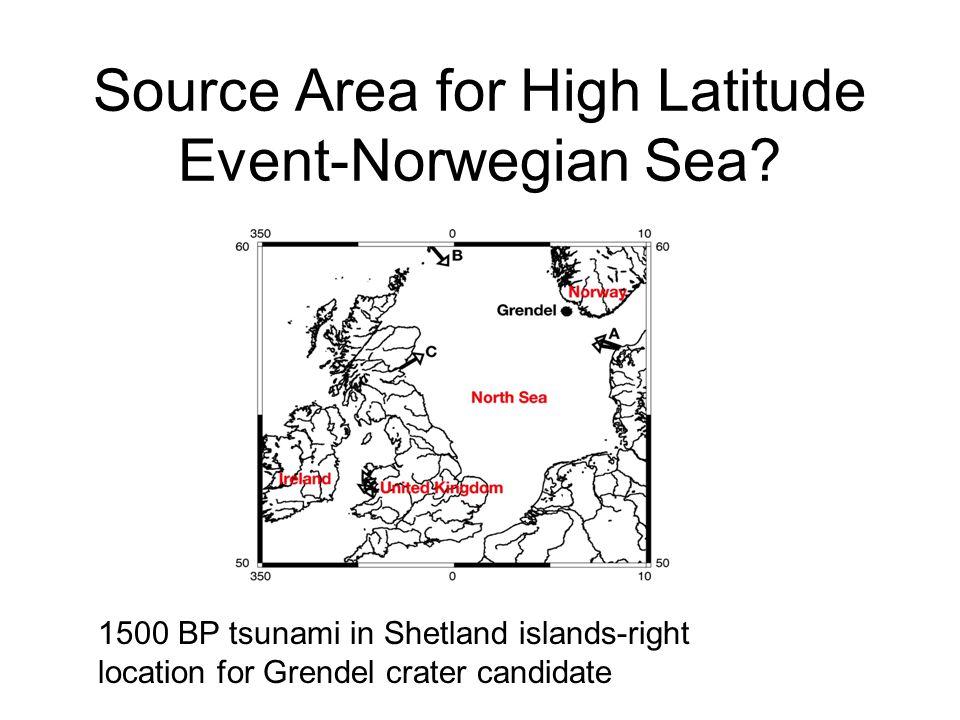 Source Area for High Latitude Event-Norwegian Sea