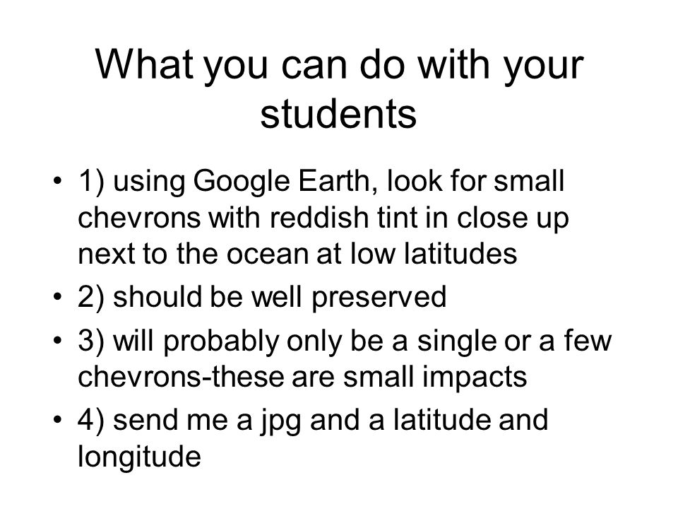 What you can do with your students