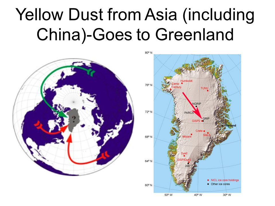 Yellow Dust from Asia (including China)-Goes to Greenland