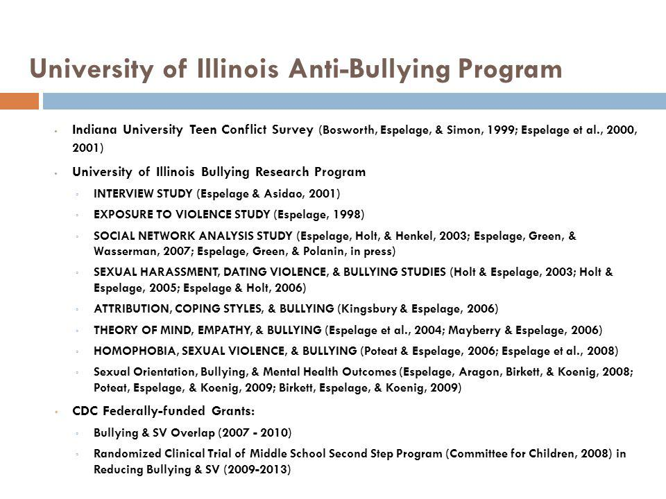 University of Illinois Anti-Bullying Program