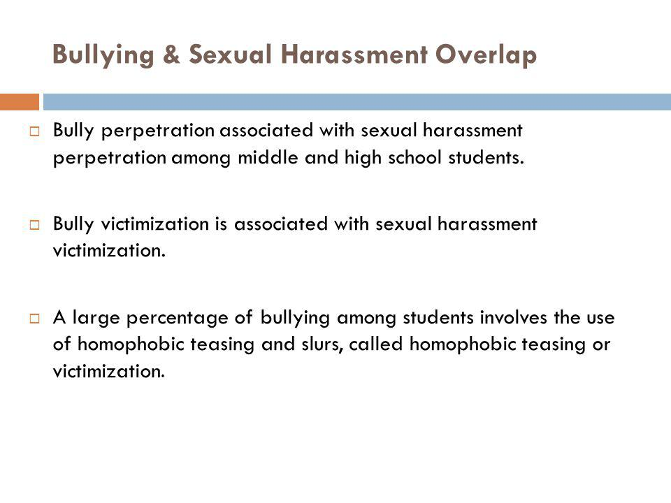 Bullying & Sexual Harassment Overlap