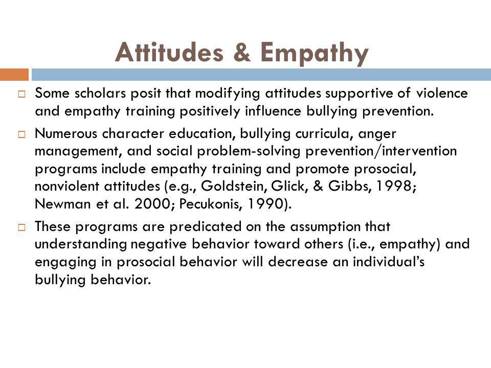 Attitudes & Empathy