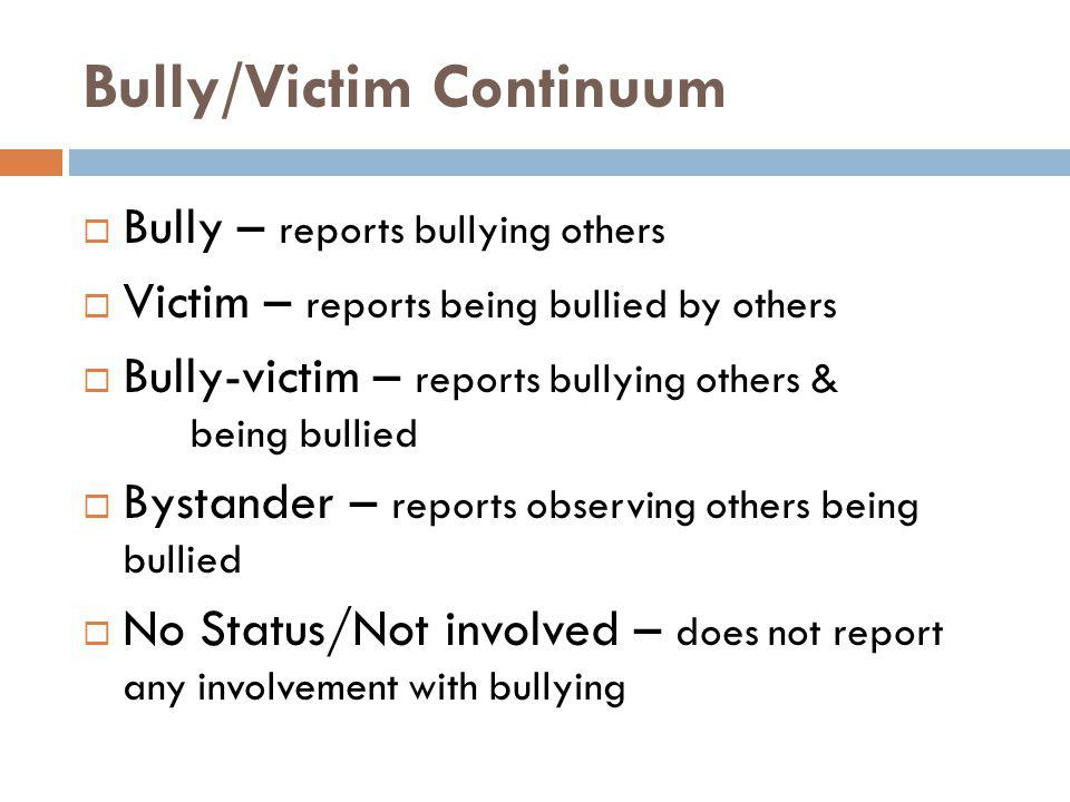 Bully/Victim Continuum