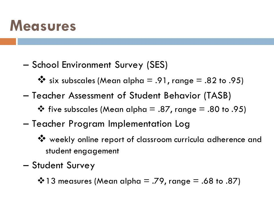 Measures School Environment Survey (SES)