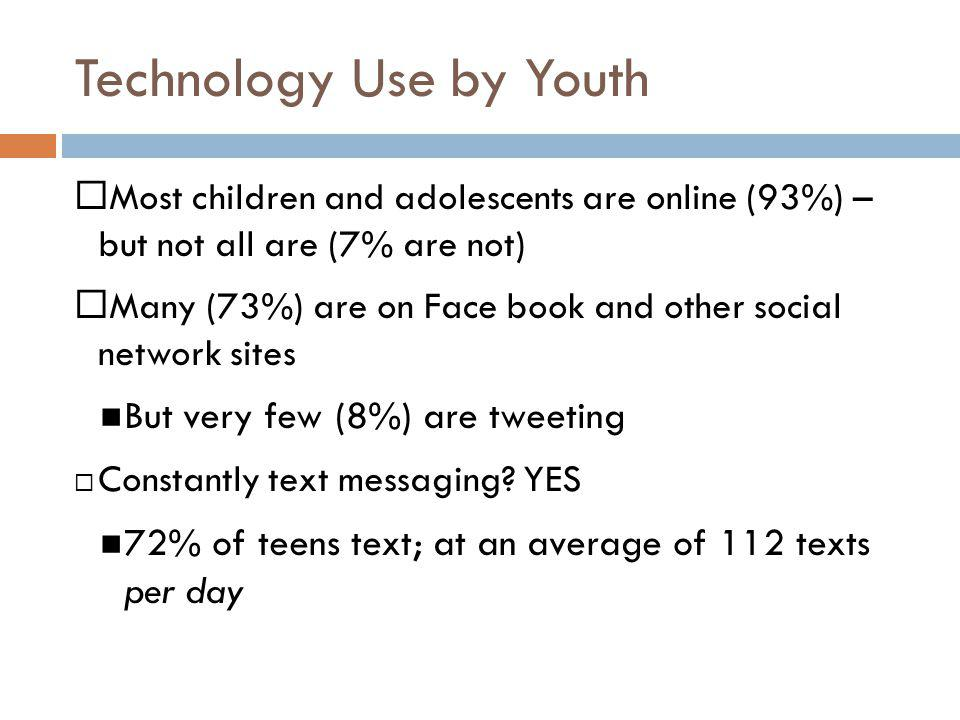 Technology Use by Youth