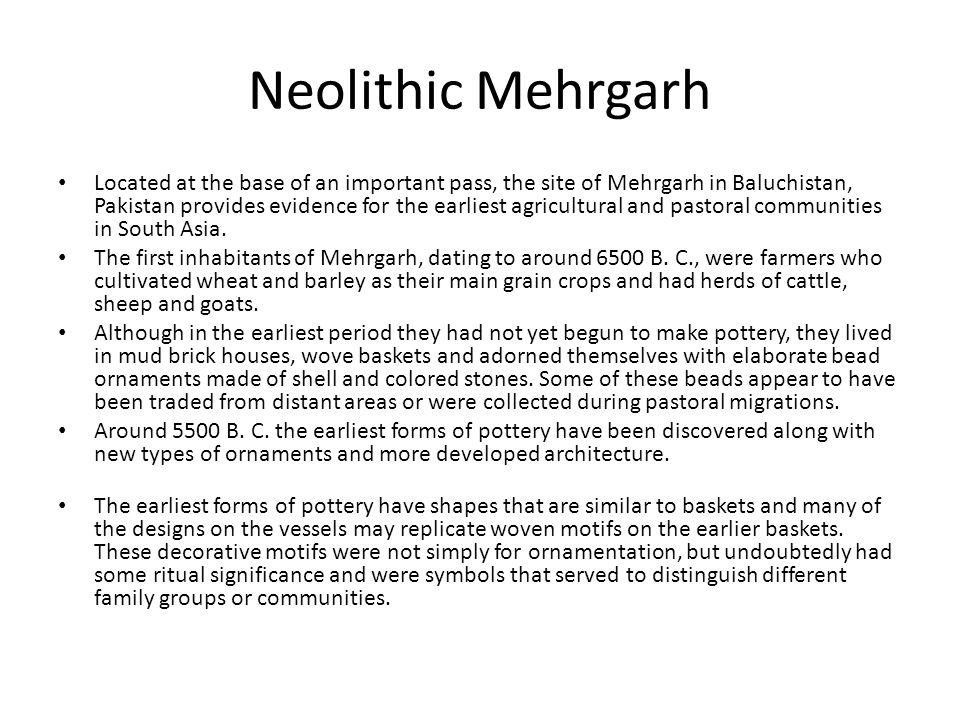 Neolithic Mehrgarh