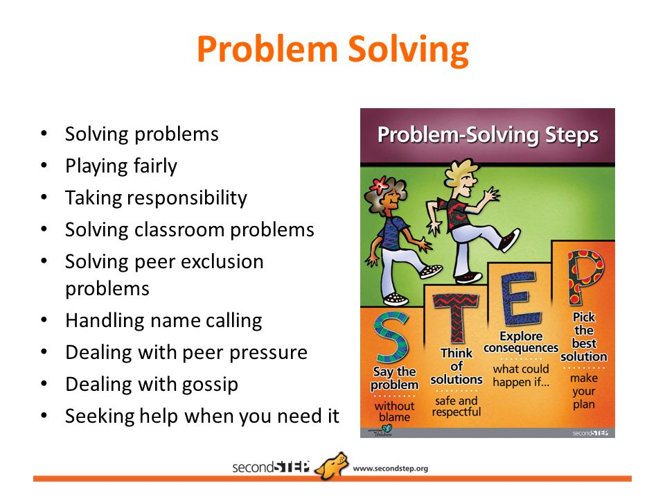 Problem Solving Solving problems Playing fairly Taking responsibility