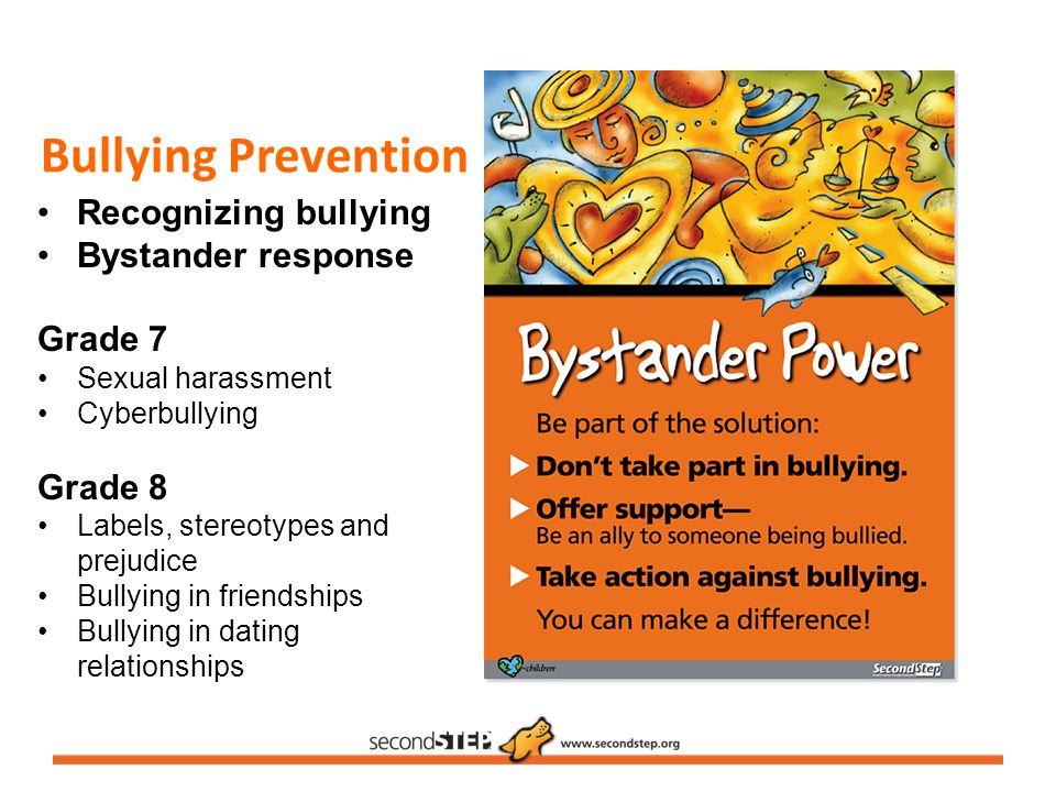 Bullying Prevention Recognizing bullying Bystander response Grade 7