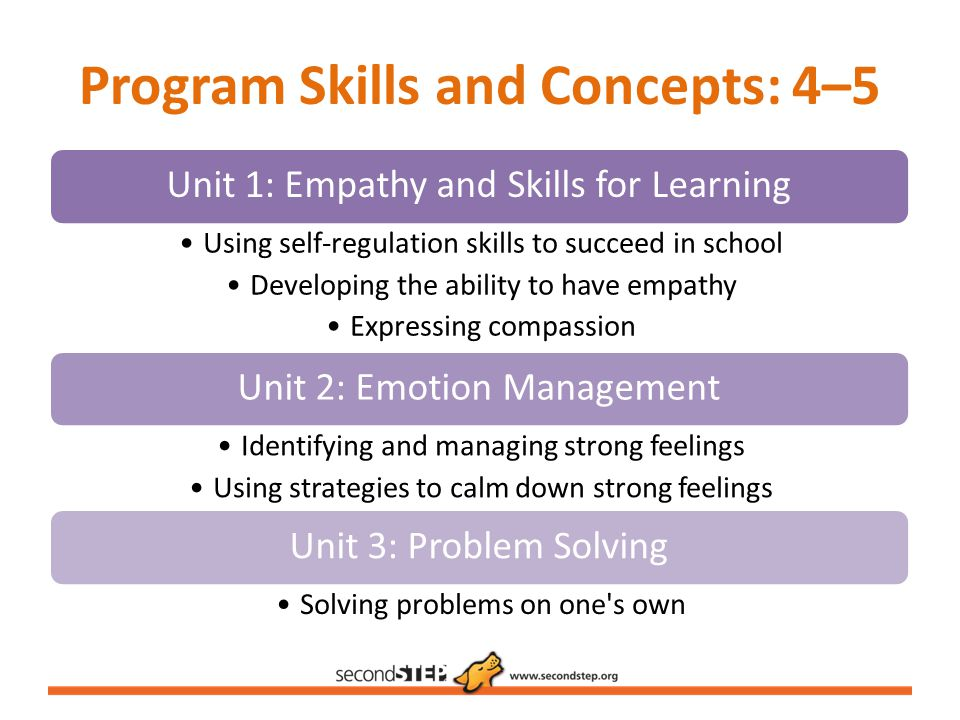 Program Skills and Concepts: 4–5