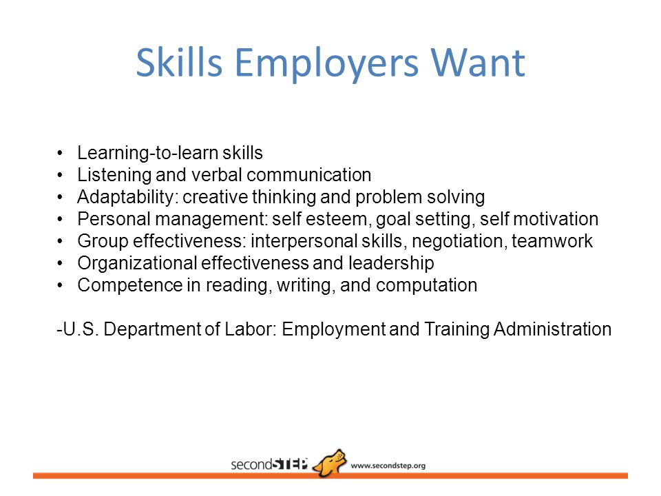 Skills Employers Want Learning-to-learn skills