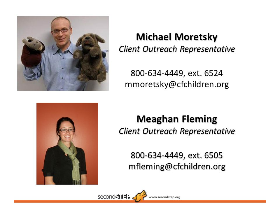 Michael Moretsky Client Outreach Representative 800-634-4449, ext