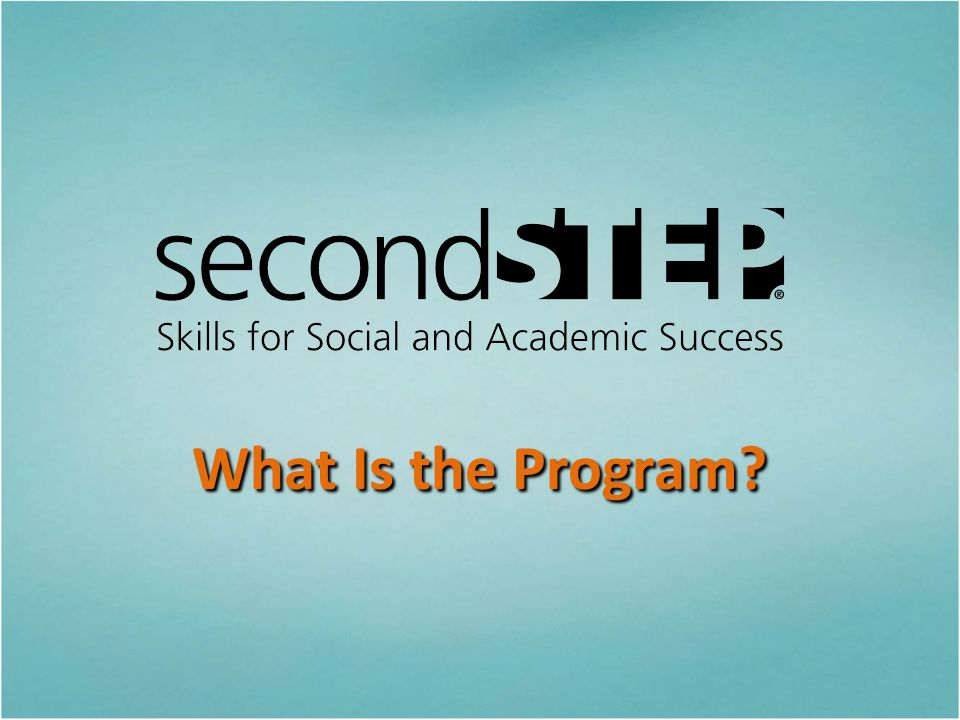 What Is the Program Let s start with a look at what the program is, including its goals, elements, materials, and topics.