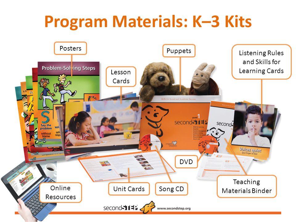 Program Materials: K–3 Kits