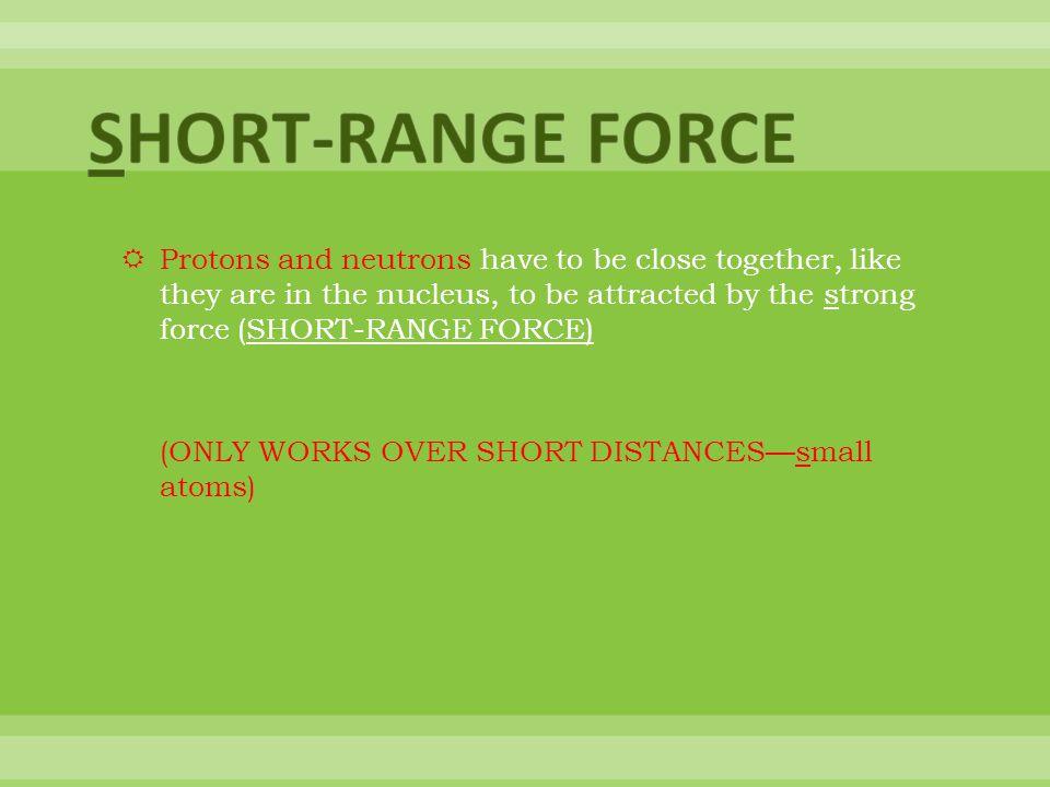 SHORT-RANGE FORCE