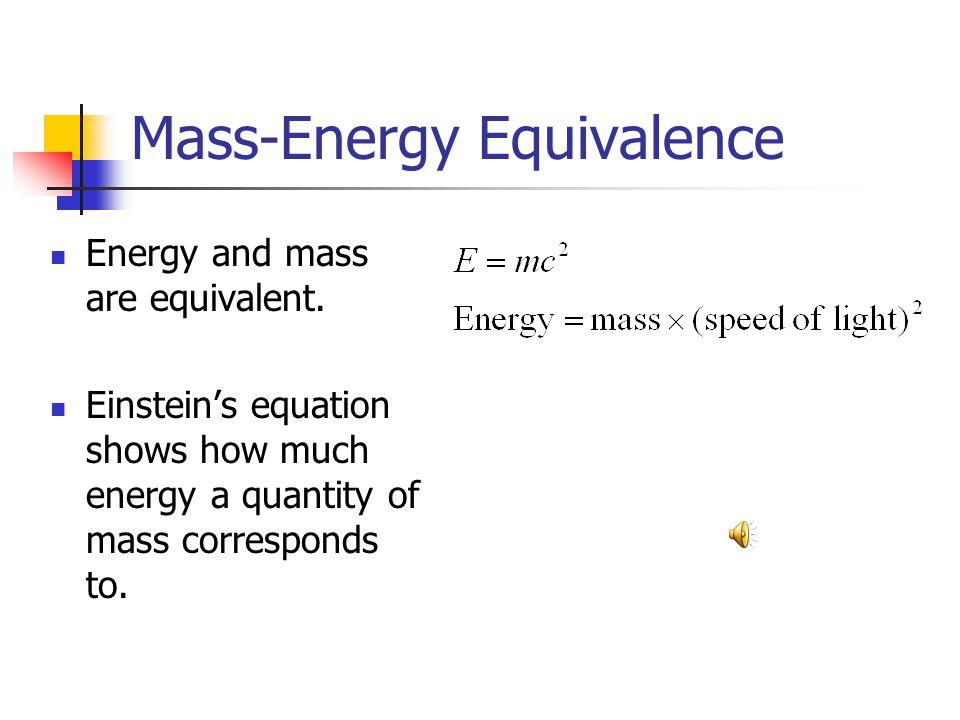 Mass-Energy Equivalence