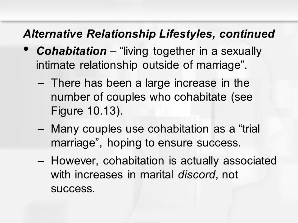 Alternative Relationship Lifestyles, continued