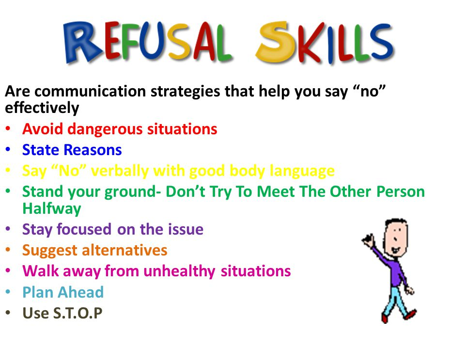 Are communication strategies that help you say no effectively