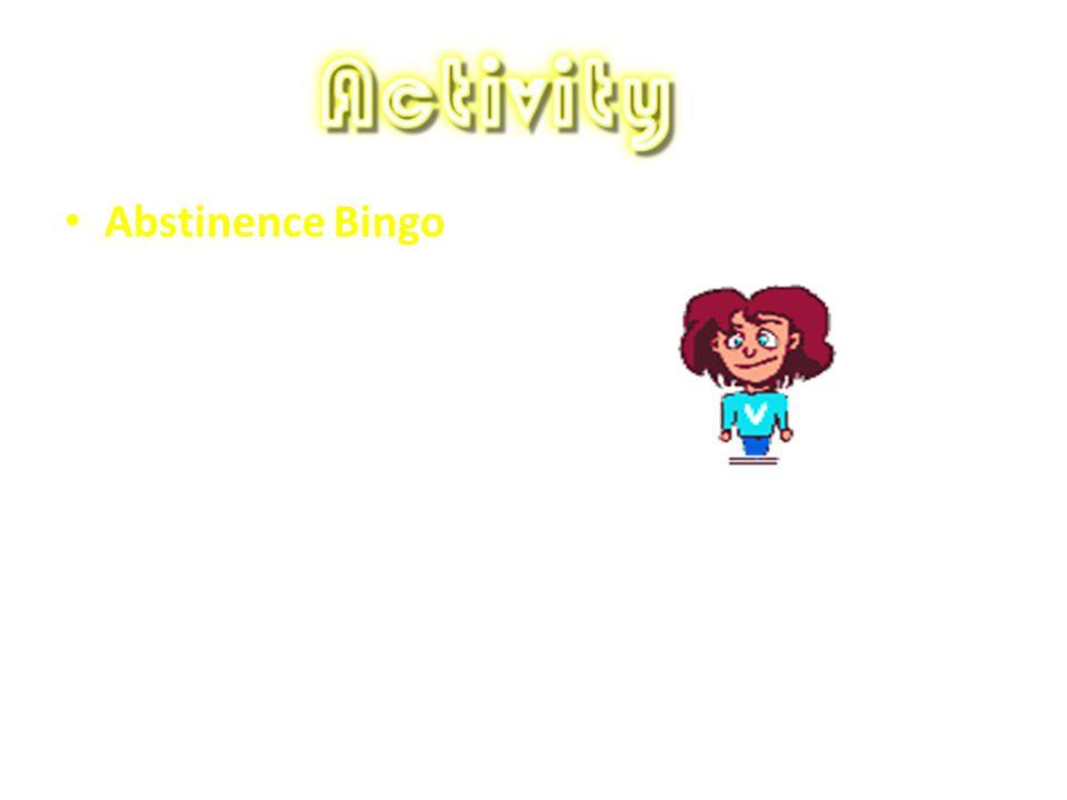 Abstinence Bingo