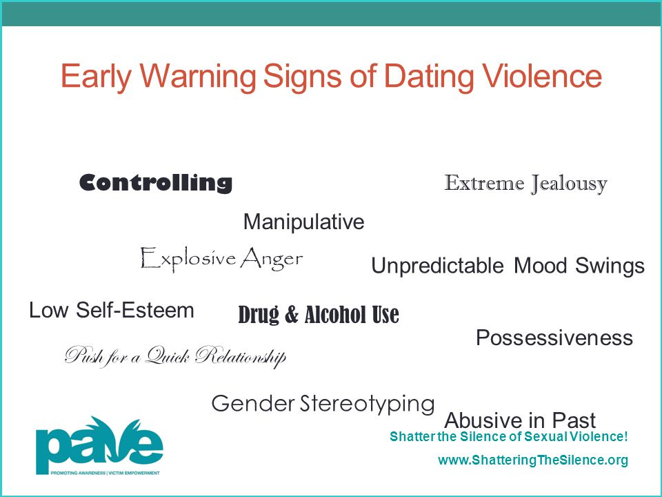 Early Warning Signs of Dating Violence