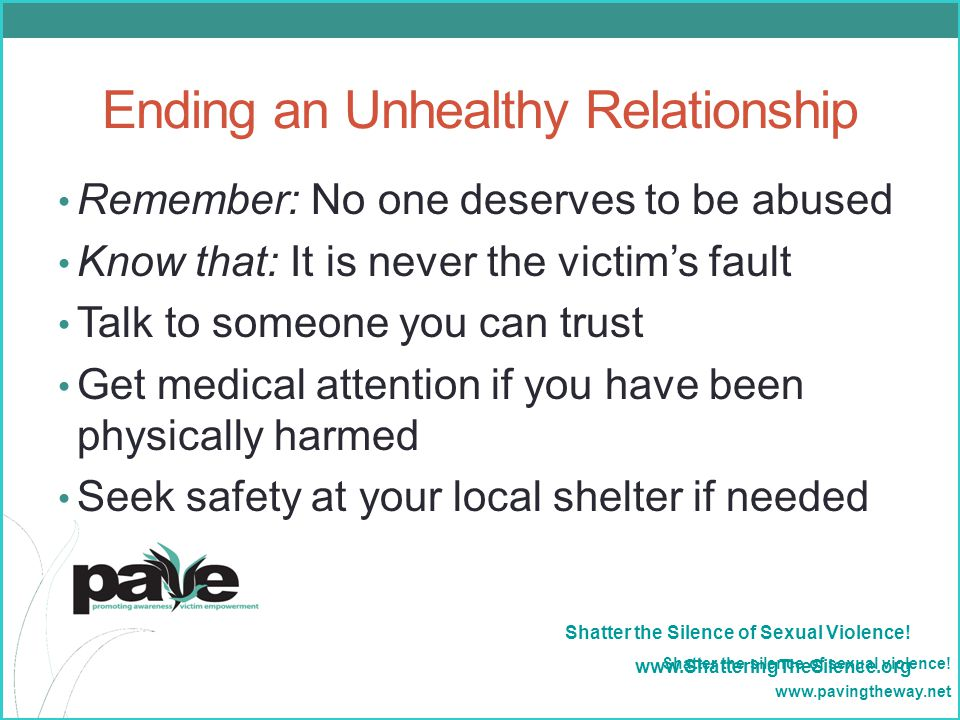 Ending an Unhealthy Relationship