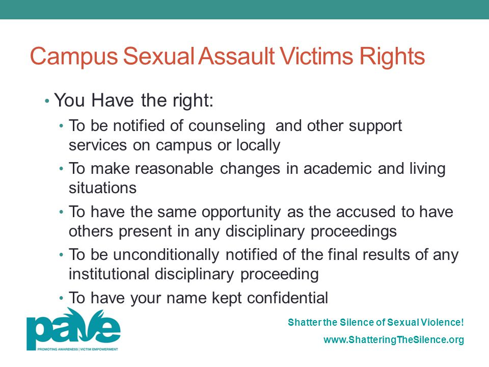 Campus Sexual Assault Victims Rights